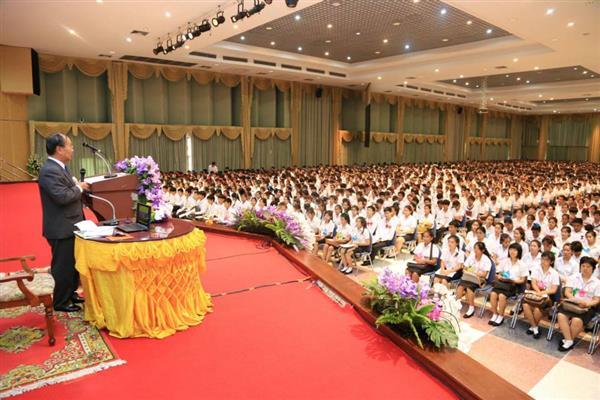 ราชภัฏเชียงใหม่จัดพิธีปฐมนิเทศนักศึกษาใหม่ ภาคปกติ ประจำปี 2556