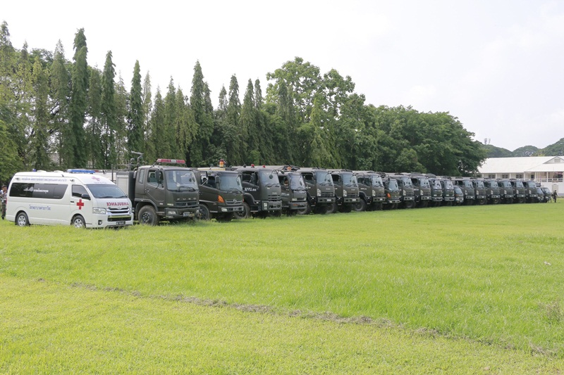 มณฑลทหารบกที่ 33  ตรวจสภาพความพร้อมของกองร้อยบรรเทาสาธารณภัย