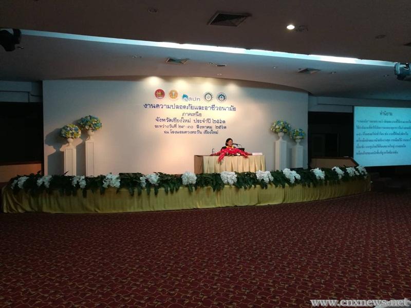 """งานความปลอดภัยและอาชีวอนามัยภาคเหนือ จังหวัดเชียงใหม่ ประจำปี 2561 ภายใต้ธีมงาน """"Culture of Prevention for Safety Thailand"""""""